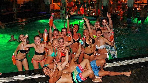 Australian tourists party in Bali photo by smh
