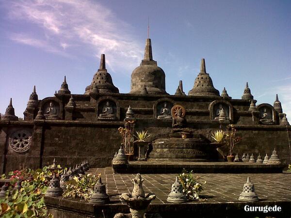 miniature Borobudur temple