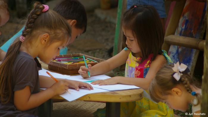 kids learning Green Lessons in Bali