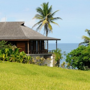 Bali luxury villas with rice fields view