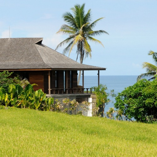 Bali luxury villas with rice fields view