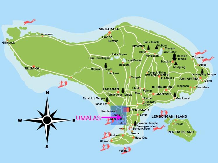 Bali Umalas Map